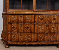 Dutch Bombe Bookcase Vitrine Display Cabinet on Chest Glazed (15 of 17)