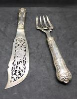 19 Century French Silver Fish Serving Cutlery (4 of 8)