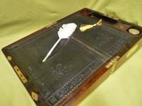 Quality Fully Brass Bound Rosewood Writing Box. Many Features. C1875 (13 of 16)