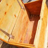 19th Century Carpenters Trunk with Shipwreck Finish (7 of 8)