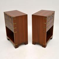 Pair of Military Campaign Style Mahogany Bedside Cabinets (6 of 9)