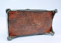 Antique Arts & Crafts Art Deco Hammered Pewter Cigarette Box (9 of 9)