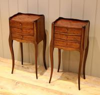 Pair of Mahogany Inlaid Bedside Cabinets (3 of 10)