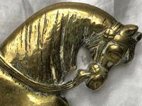 Antique English Victorian Graceful Equestrian Horse Brass Door Stop (25 of 25)
