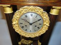 French Charles X Rosewood Portico Clock (3 of 9)
