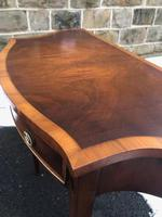 Quality Flamed Mahogany Single Draw Side Table (7 of 7)