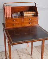 George III mahogany ladies writing desk or 'cheveret' (5 of 9)