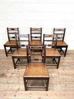 Set of Six Georgian Oak Country Chairs (2 of 10)