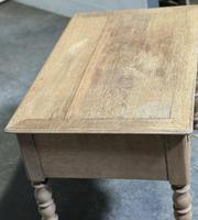 French Bleached Oak Writing Desk (4 of 21)