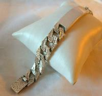 "Vintage Sterling Silver Gentlemans ID Bracelet 66.7 Grams 8 3/4"" Length (5 of 12)"