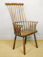 Charming 18th Century Yew Wood Comb Back Chair (5 of 10)