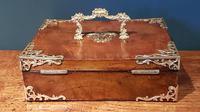 Superb Antique Figured Walnut Jewellery Box (5 of 6)