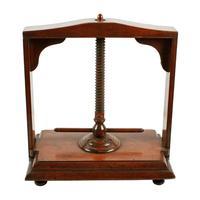 18th Century Fruit Wood Book Press (2 of 8)