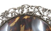 Antique Victorian Sterling Silver & Tortoiseshell Tray / Dish 1888 (5 of 9)