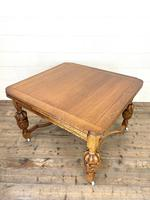 Antique Oak Draw Leaf Dining Table (10 of 10)