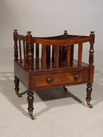Regency Period Mahogany Canterbury in the Manner of Gillows