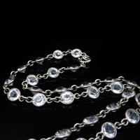 Art Deco Old Cut Paste Silver Full Riviere Necklace (6 of 8)