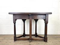 Carved Oak Fold-over Demi Lune Table (10 of 10)