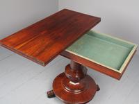 Antique William IV Rosewood Foldover Tea Table (5 of 12)