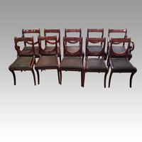 Set of 10 Regency Mahogany Dining Chairs (9 of 12)
