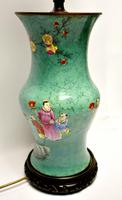 19th century Chinese vase converted to a lamp (5 of 9)