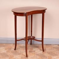 Edwardian Inlaid Mahogany Kidney Shape Occasional Table (6 of 15)