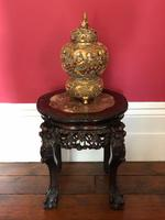 Chinese Hongmu Jardinière or Side Table with Marble Inset, Antique (2 of 16)