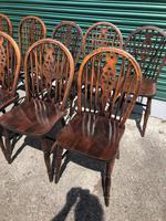 Harlequin Set 10 Ash & Elm Kitchen Chairs (8 of 10)