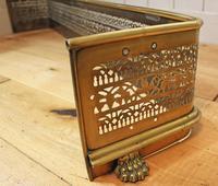 19th Century Fretwork Brass Fire Fender (9 of 9)