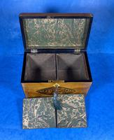 Late 18th Century Fruitwood and Applewood Twin Tea Caddy (16 of 21)