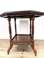 Late Victorian Walnut Octagonal Centre Table (4 of 10)