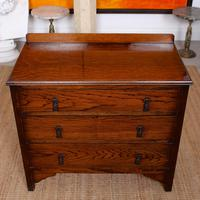 Oak Chest of Drawers Solid Wild Oak c.1920 (2 of 13)