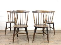 Set of Four Victorian Elm Penny Chairs (2 of 11)