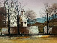 Ronald Folland (1932-1999) Original Signed Winter Village Landscape Oil Painting (6 of 12)