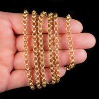 Antique Victorian Sautoir Chain 15ct Gold c.1900 (2 of 6)