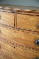 Antique Mahogany Bow Front Chest of Drawers (6 of 9)