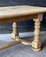 French Bleached Oak Refectory Farmhouse Dining Table (21 of 26)