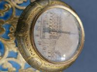 Old Palais Royal Blue Opaline Glass Perfume Bottle with a Miniature of Paris (6 of 6)