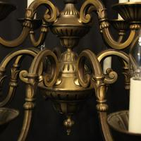 French Gilded Brass 12 Light Tiered Chandelier Oka04098 (7 of 10)