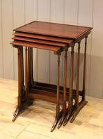 Mahogany Nest of Four Tables (2 of 11)