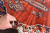 Old Afshar Carpet 305x209cm (5 of 9)