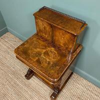 Spectacular Quality Victorian Figured Walnut Antique Davenport (3 of 9)