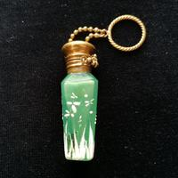 19th Century Jade Green, Mary Gregory Style Scent Bottle c.1890 (6 of 6)