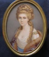 Miniature Portrait 1880 Hand Painted Easel Backed Framerame (2 of 4)