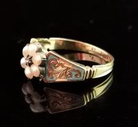 Antique Regency Mourning Ring, 18ct Gold, Blue Enamel (3 of 10)