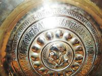 16th. century Nuremberg brass alms dish (5 of 6)