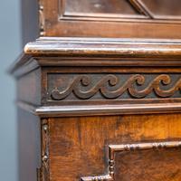 Mahogany & Burr Walnut Glazed Bookcase (7 of 11)
