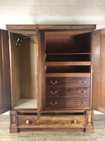 Large Victorian Mahogany Triple Compactum Wardrobe (4 of 11)