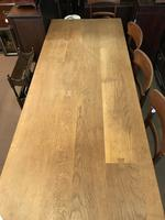 Good Solid Oak Large Refectory Table (6 of 7)