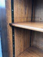 Antique Glazed Oak Barley Twist Bookcase (3 of 11)